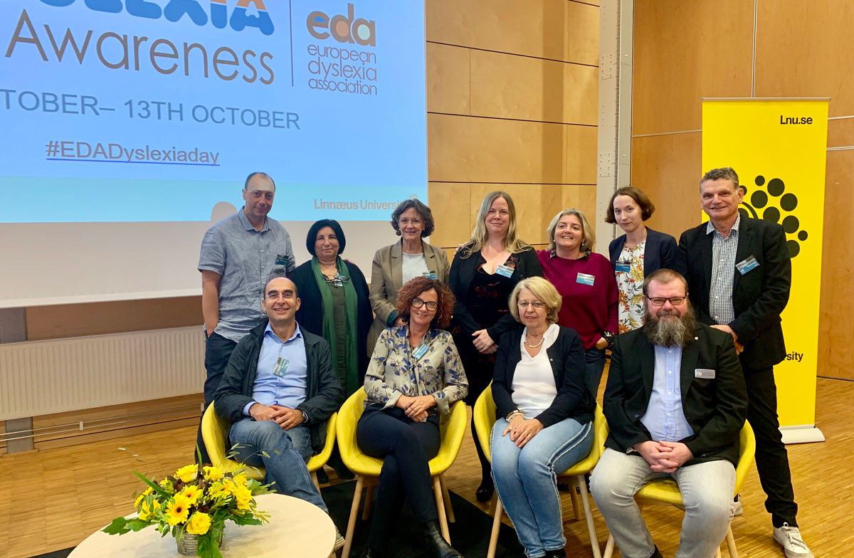 The 2019 EDA board posing during Autumn Seminars in Växjö