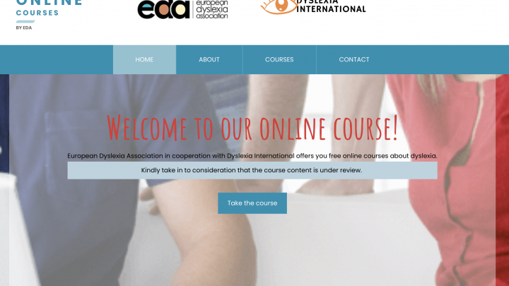 Online course front-page