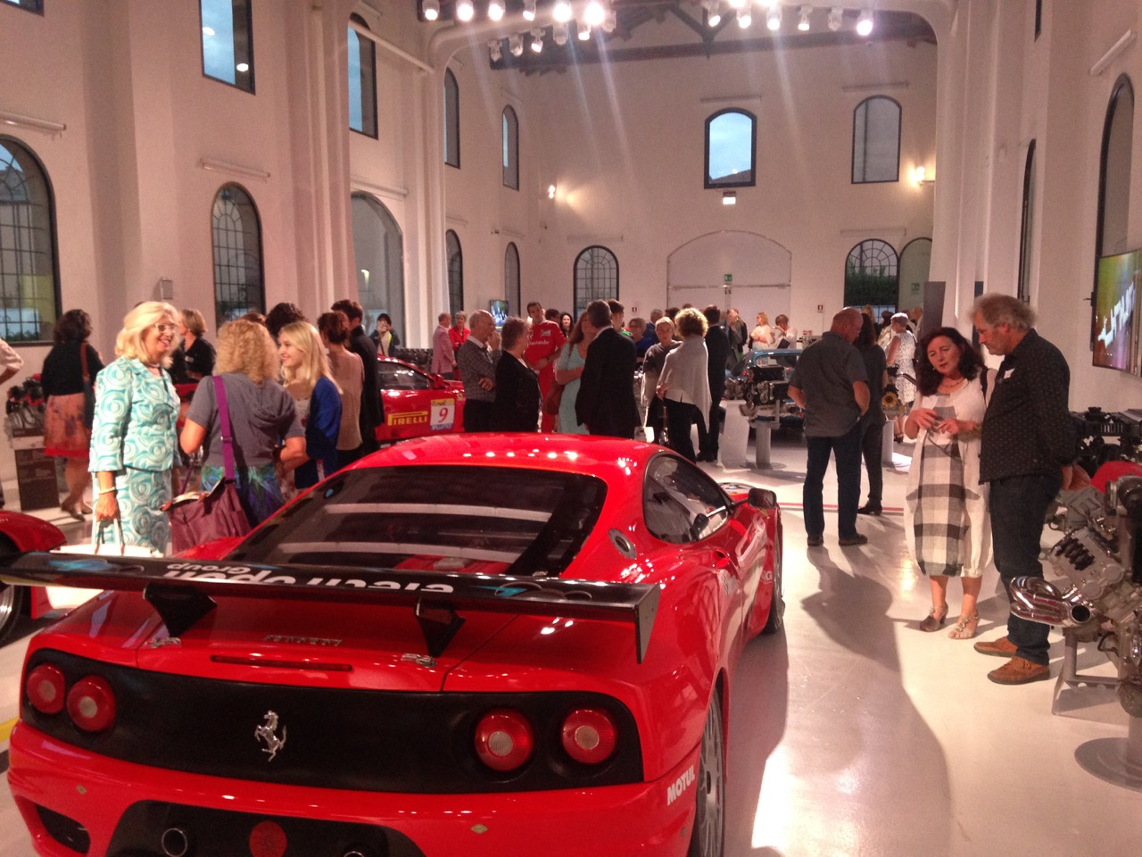 Welcome reception at the Ferrari Museum