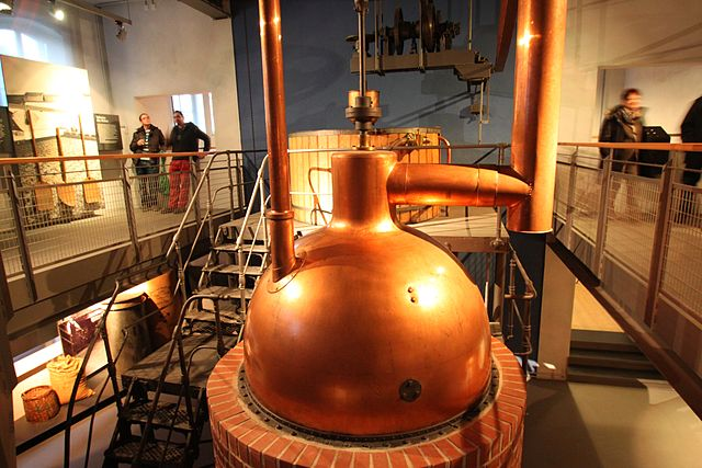 The brewery museum. Picture of a copper kettle