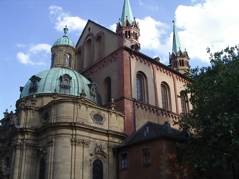 The cathedral in Würzburg